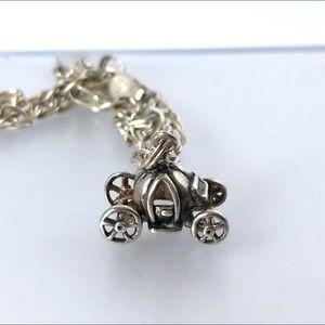 Jezlane Vintage Sterling Silver Charm Bracelet